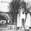 Bošířany - kaple sv. Anny | pseudorománská obecní kaple sv. Anny na návsi v Bošířanech na historické fotografii z doby před rokem 1945