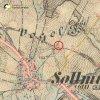 Žalmanov - Pauscherův kříž | Pauscherův kříž na rozcestí severovýchodně od vsi na pamě 3. vojenského františko-josefského mapování z roku 1878
