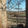 Žalmanov - Pauscherův kříž | přední strana Pauscherova kříže v Žalmanově - březen 2017