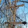 Žalmanov - Pauscherův kříž | litinová plastika Ukřižovaného Krista - březen 2017