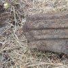 Činov - železný kříž | zbytek profilované hlavice žulového podstavce zničeného kříže u Činova - březen 2017