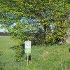 Andělská Hora - Hacklův kříž | přenesený Hacklův kříž pod chráněnou Hacklovou lípou u kostela Nejsvětější Trojice u Andělské Hory - květen 2018