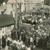 Nejdek - pomník obětem 1. světové války | shromáždění u pomníku padlých v Nejdku za letní slavnosti sudetoněmecké strany v roce 1936