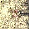 Polom - železný kříž | železný kříž v Polomi na výřezu z mapy 2. vojenského františkovo mapování z roku 1846