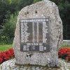 Merklín - pomník obětem 1. světové války | přední strana obnoveného pomníku - srpen 2019