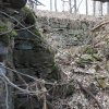 Bochov - Bártův mlýn | prostor bývalé lednice pro umístění mlýnského kola v hlavní budově zaniklého Bártova mlýna u Bochova - březen 2017