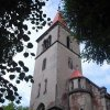Velichov - kostel Nanebevzetí Panny Marie | věž zchátralého kostela - červenec 2009