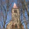 Velichov - kostel Nanebevzetí Panny Marie | jihozápadní průčelí kostela - březen 2013