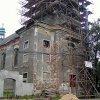 Údrč - kostel sv. Linharta | kostel sv. Linharta v průběhu rekonstrukce - srpen 2002