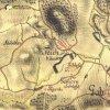 Javorná - kaple Panny Marie   kaple Panny Marie při cestě z Javorné do Bochova na výřezu mapy 1. vojenského josefského mapování z let 1764-1768