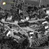 Tocov - kostel Navštívení Panny Marie | farní kostel Navštívení Panny Marie na návsi v Tocově na snímku vojenského leteckého mapování z roku 1938