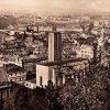 Karlovy Vary - kostel Panny Marie ustavičné pomoci | klášterní kostel od jihozápadu v době před rokem 1945