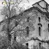 Doupov - kostel sv. Alžběty | zdevastovaný klášterní kostel sv. Alžběty v Doupově od severu v 60. letech 20. století