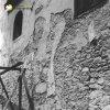 Doupov - kostel sv. Alžběty | obnažené zdivo klášterního kostela sv. Alžběty v Doupově z lomového kamene na snímku z roku 1967