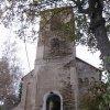 Srní - kostel   hlavní východní průčelí kostela - říjen 2009