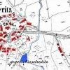Albeřice (Alberitz) | katastrální mapa obce Albeřice z roku 1945