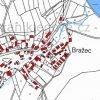 Bražec (Bergles) | katastrální mapa obce Bražec (Bergles) z roku 1945