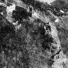 Andělská Hora - hrad Andělská Hora (Engelsburg) | letecký pohlad na zříceniny hradu Andělská Hora z roku 1995