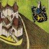 Bochov - hrad Hartenštejn | ideální podoba hradu na kresbě J. Heřmana podle T. Durdíka