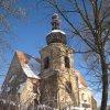 Kozlov - kostel Nanebevzetí Panny Marie | kostel od jihozápadu - leden 2010