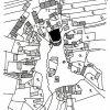 Ratiboř - gotická tvrz | situace panských sídel v Ratiboři na výřezu mapy stabilního katastru vsi z roku 1841 - gotická tvrz (T1) a renesanční tvrz (T2)