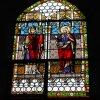 Žlutice - kostel sv. Petra a Pavla | malované vitrážové okno kostela - září 2015