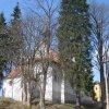 Nové Hamry - kostel sv. Jana Nepomuckého | závěr kostela od východu - duben 2010