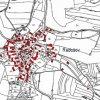 Radošov (Reschwitz) | katastrální mapa obce z doby před rokem 1955