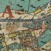 Pastviny (Ranzengrün) | kaple a krucifix na návsi na historické mapě císařského otisku stabilního katastru vsi Pastviny (Ranzengrün) z roku 1842