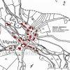 Mlýnská (Mühldorf)   katastrální mapa obce Mlýnská z roku 1945