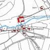 Donín (Dohnau) | katastrální mapa obce Donín (Dohnau) z doby před rokem 1955