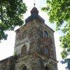 Kobylé - kostel Povýšení sv. Kříže | věž kostela Povýšení sv. Kříže - červen 2010