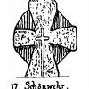Krásný Jez - smírčí kříž | smírčí kříž na kresbě prof. Franze Wilhelma z roku 1906