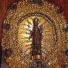 Ostrov - kaple Panny Marie Einsiedelnské | Černá madona na oltáři kaple - březen 2010