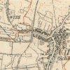 Činov - kaple   kaple při cestě do Dlouhé na mapě topografické sekce 3. vojenského mapování ze 30. let 20. století