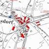 Velká Lesná (Gross Spinnelsdorf) | katatrální mapa vsi Velká Lesná patrně z roku 1945