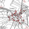 Tunkov (Tunkau)  | katastrální mapa vsi Tunkov z roku 1945
