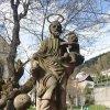 Jáchymov - sloup se sousoším Nejsvětější Trojice | socha sv. Josefa s Ježíškem - duben 2014