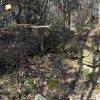 Teleč - kaple | trosky pobořené obecní kaple na bývalé návsi v dnes částečně zaniklé vsi Teleč - březen 2017