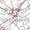 Ostré (Westrum) | katastrální mapa vsi Ostré z roku 1945