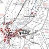 Martinov (Merzdorf) | katastrální mapa vsi Martinov patrně z roku 1945