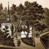 Karlovy Vary - kaple Panny Marie | kaple Panny Marie na polygrafii z doby kolem roku 1900