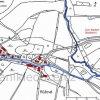 Růžová (Rosengarten) | katastrální mapa vsi Růžová z roku 1945