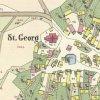 Tureč - kostel sv. Jiří | kostel sv. Jiří na horním konci návsi na císařském oticku mapy stabilního katastru vsi Tureč (Turtsch) z roku 1843