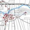 Obrovice (Wobern) | katastrální mapa vsi Obrovice z roku 1945