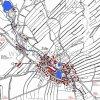 Žďár (Saar)  | katastrální mapa obce Žďár a jejího okolí z roku 1945
