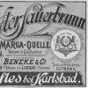 Víska (Dörfles) | lahvová etiketa kyselky MARGA z doby kolem roku 1900