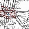 Víska (Dörfles) | katastrální mapa vsi Víska z doby před rokem 1955