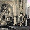 Skoky - kostel Navštívení Panny Marie | interiér kostela Navštívení Panny Marie před rokem 1945
