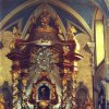 Skoky - kostel Navštívení Panny Marie | hlavní oltář kostela v roce 1965